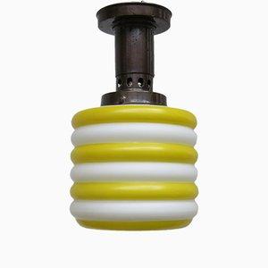 Verkupferte Glas Deckenlampe, 1930er