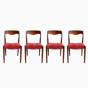 Mid-Century Scandinavian Chairs, Set of 4