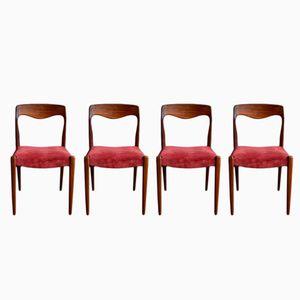 Skandinavische Mid-Century Stühle, 4er Set