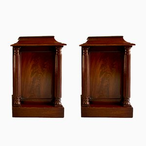 Antique Mahogany Nightstands, Set of 2