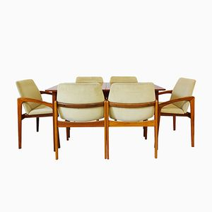 Mid-Century Danish Dining Set by Kai Kristiansen and Nils Jonsson