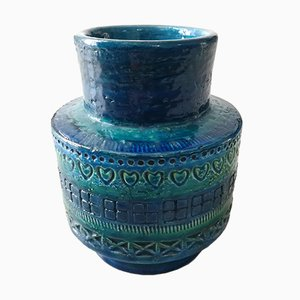 Vaso in ceramica di Aldo Londi per Bitossi, anni '60