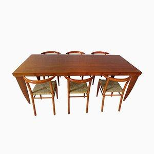 Vintage Essgruppe aus Kirschholz von Philippe Starck für Driade, 1990er