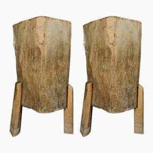 Tavoli creati da un tronco, Italia, anni '50, set di 2