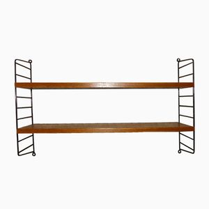 Small Teak Shelving Unit by Kajsa & Nils Strinning for String, 1950s