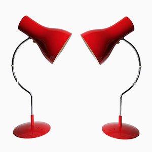 Vintage Modell 0521 Schreibtischlampen von Josef Hurka für Napako, 2er Set
