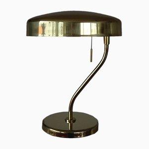 Lámpara de mesa vintage de latón, años 70