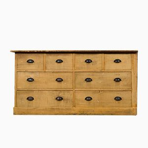 Vintage Belgian Bank of Drawers