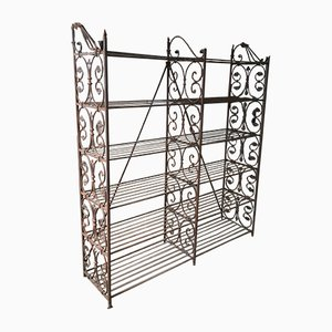 Vintage Wrought Iron Baker's Shelves, 1920s