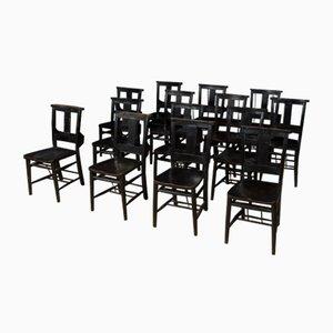 Ebonisierter Vintage Stuhl aus Kapelle, 1920er