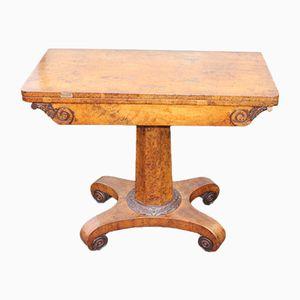 Kartentisch aus Walnuss-Wurzelholz, 1920er