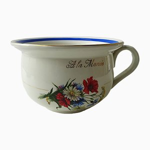 Porcelain Floral Chamber Pot from Orchies Moulin des Loups, 1960s