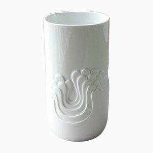 Deutsche Vintage Blütenfest Vase in Weiß von Tapio Wirkkala für Thomas Porzellan