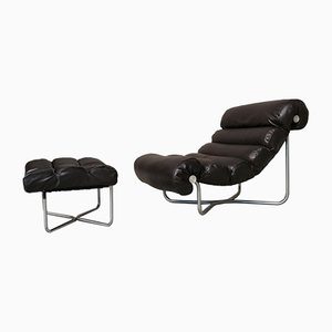 Glasgow Lounge Chair & Ottoman by Georges Van Rijck for Beaufort , 1970s