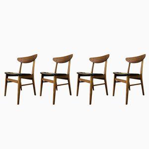 Chaises de Salon Mid-Century en Teck, 1960s, Set de 4