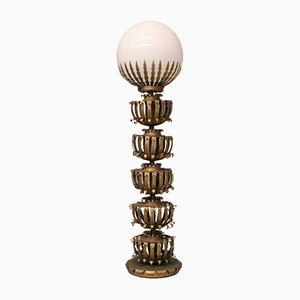Glaskugel-Stehlampe von Maison Jansen, 1930er