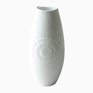 Vaso grande vintage bianco di AK Kaiser, Germania