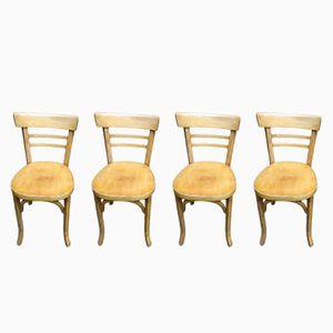 Chaises de Bistrot Mid-Century de Baumann, Set de 4