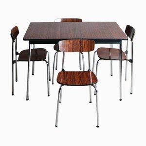 Kleiner Vintage Esstisch aus Resopal und 4 Stühle, 1960er