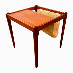 Danish Teak Side Table with Magazine Holder from BRDR Furbo, 1960s