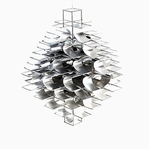 Lámpara de techo Casiopée de Max Sauze, años 70