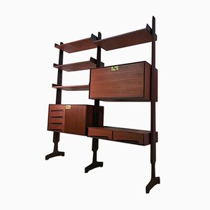 Italian Teak Freestanding Shelving Unit by Vittorio Dassi for Dassi, 1950s
