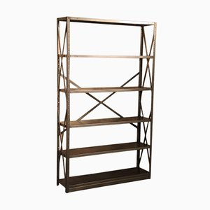 Mid-Century Industrial Bookshelf from Roneo