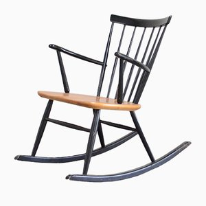Mid-Century Rocking Chair by Sven Erik Fryklund for Hagafors