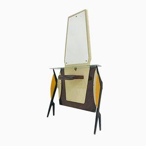 Italienischer Mid-Century Konsolentisch aus Palisander mit Spiegel, 1950er