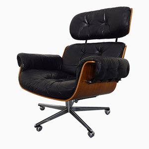 Swiss Leather Chair by Martin Stoll for Stoll Giroflex, 1960s