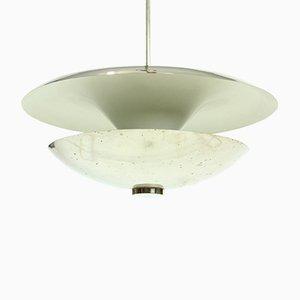 Lámpara de techo vintage de metal cromado de Franta Anyz