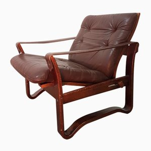 Vintage Danish Reclining Safari Chair, 1960s