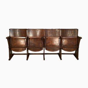 Vintage 4-Sitzer Theaterbank von Thonet, 1950er