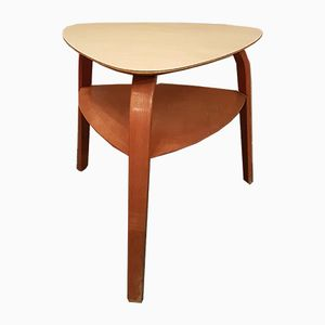 Bow Wood Side Table by Hugues Steiner for Steiner, 1950s