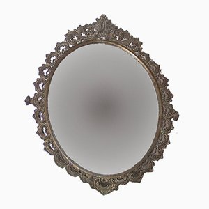 French Metal Vanity Mirror, 1930s