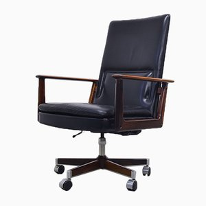 Rosewood & Leather Executive Chair by Arne Vodder for Sibast, 1960s