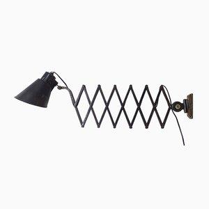Industrielle ausziehbare Vintage Wandlampe von Bometal