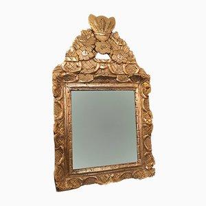 Antiker Spiegel mit Rahmen aus vergoldetem Holz