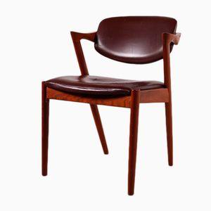 Chaise Modèle 42-Z Vintage par Kai Kristiansen pour Schou Andersen