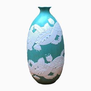 Vaso in ceramica di Giovanni Gariboldi per Richard Ginori, anni '40