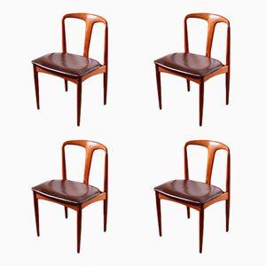Juliane Stühle von Johannes Andersen für Uldum Møbelfabrik, 1960er, 4er Set