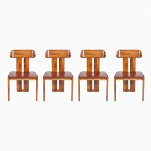 Chairs by Tobia & Afra Scarpa, 1980s, Set of 4
