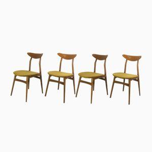 Dänische Vintage Stühle, 1960er, 4er Set