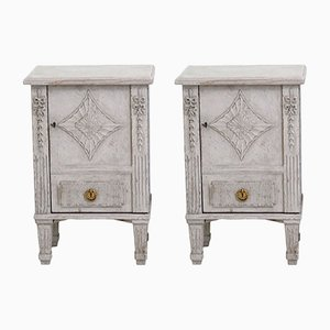 Antique Gustavian Bedside Cabinets, Set of 2
