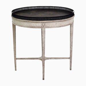 Tavolo antico con ripiano dipinto, Svezia