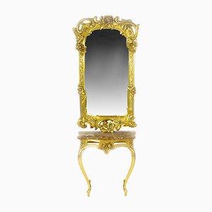 Console et Miroir Louis XV Antiques