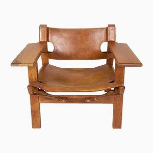 Spanischer Armlehnstuhl von Børge Mogensen für Fredericia, 1960er