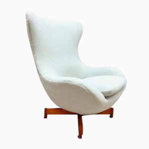 Vintage Wingback Egg Chair, 1970s