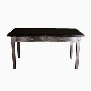 Vintage Stripped Metal Desk