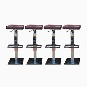 Vintage Adjustable Bar Stool from Maison Jansen, 1970s, Set of 4